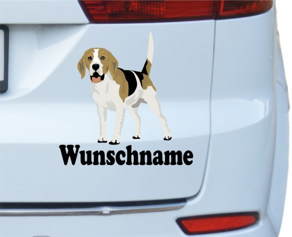 Beagle mit Wunschname