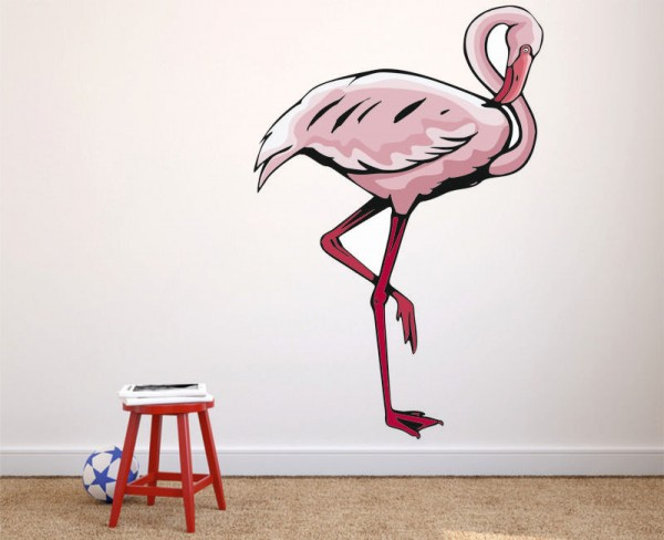 Wandsticker Flamingo