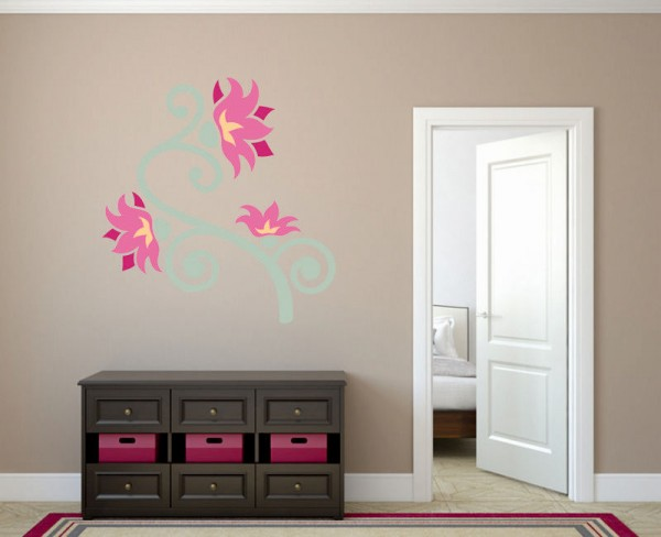 Wandsticker Blumen-Ornament Lisa