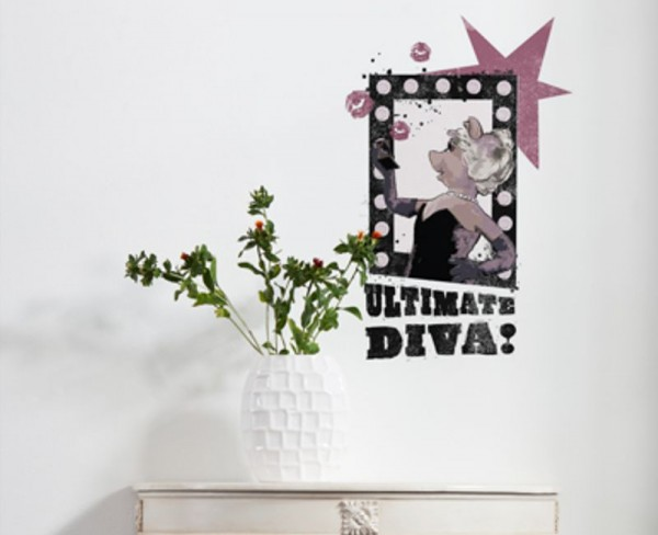 "Wandsticker ""Ultimate Diva"""