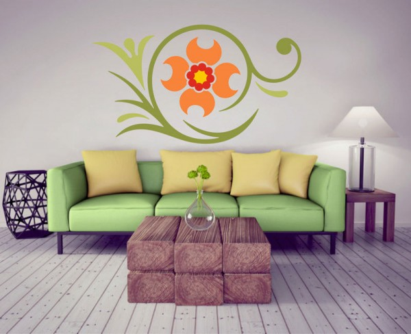 Wandsticker Blumen-Ornament Rena