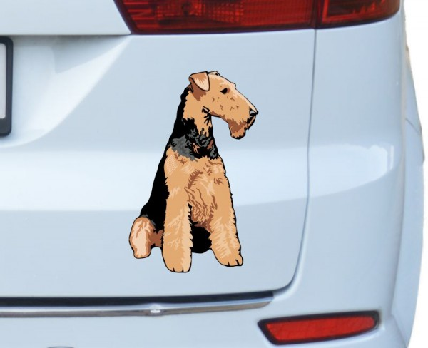 Airedale Terrier Autoaufkleber