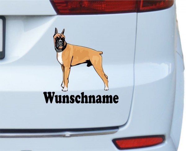 Boxer mit Wunschname